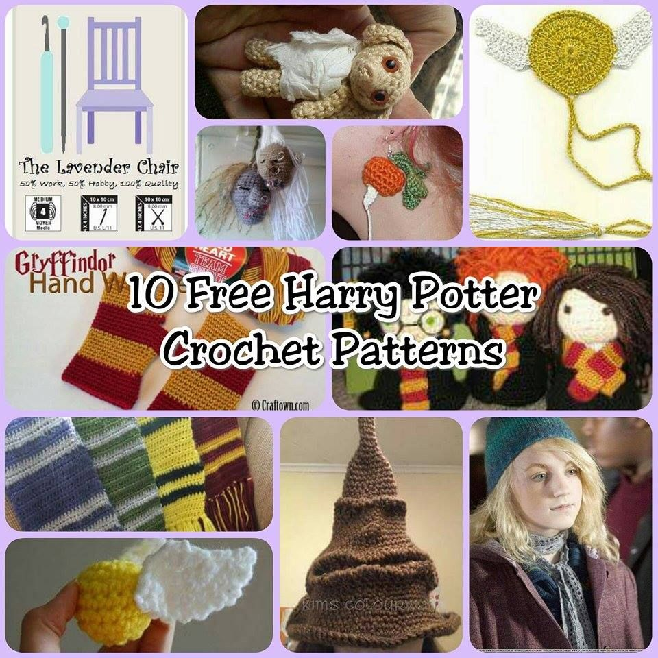 Crochet Me Lovely — 10 Free Harry Potter Crochet Patterns - The ...
