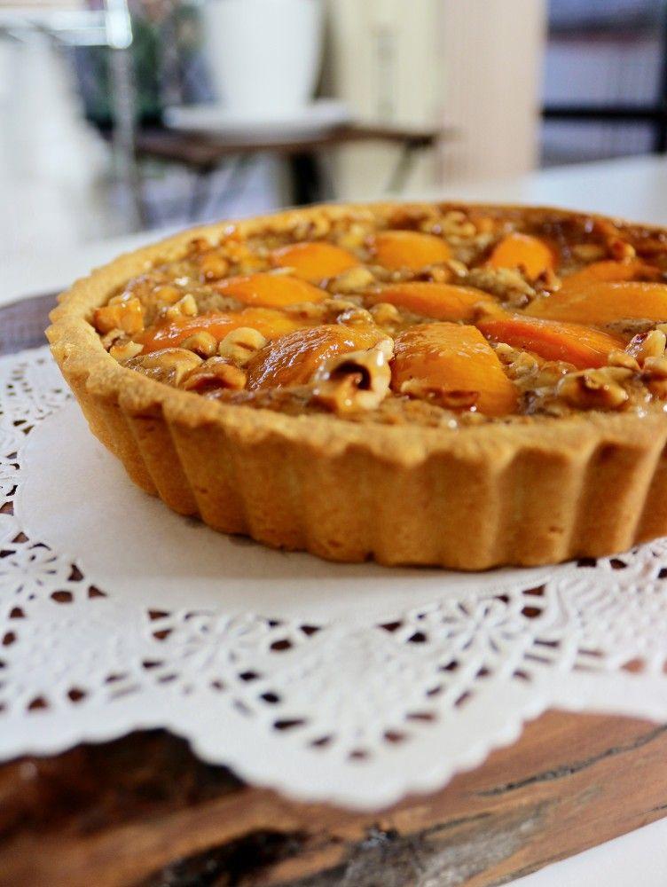 Peach hazelnut tart almond recipes food processor