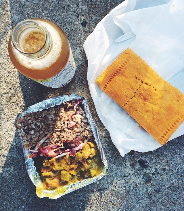 Seriously Just Had The Most Delicious Jamaican Caribbean Takeout Food From Vegan S Delight In The Bronx Kombuch Vegan Soul Food Soul Food Restaurant Soul Food