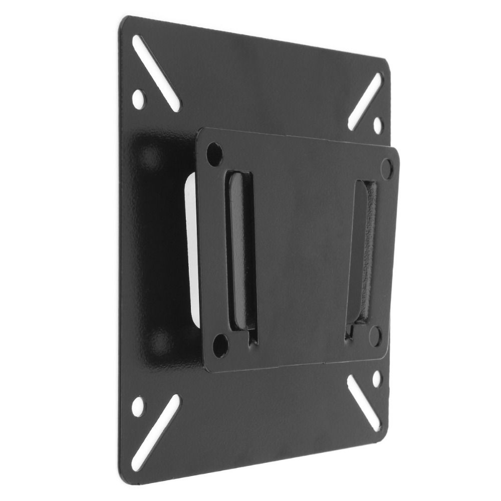 Click To Buy Universal Black Tv Wall Mount Bracket For 14 24 Inch Lcd Led Monitor Falt Pa Tv Wall Mount Bracket Wall Mounted Tv Universal Tv Wall Mount