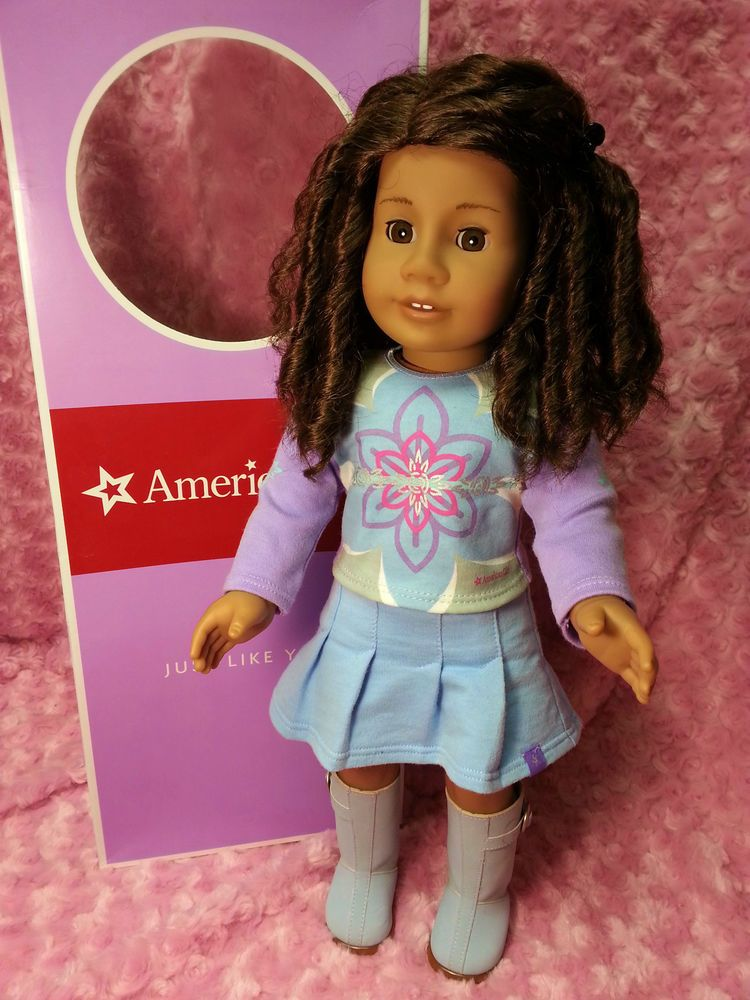 American Girl Doll JLY Med Skin Dark Hair Brown Eyes Meet