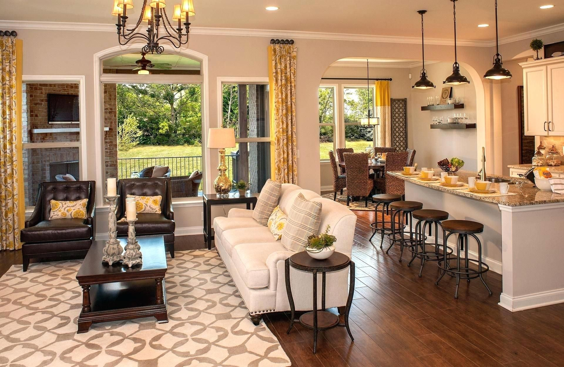 Open Floor Plan Kitchen Dining Living Room Kitchen Dining Room Com