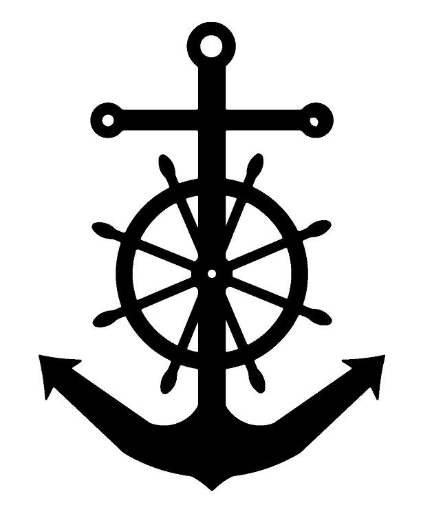 Anchor & Captains wheel | Ship wheel tattoo, Anchor ...