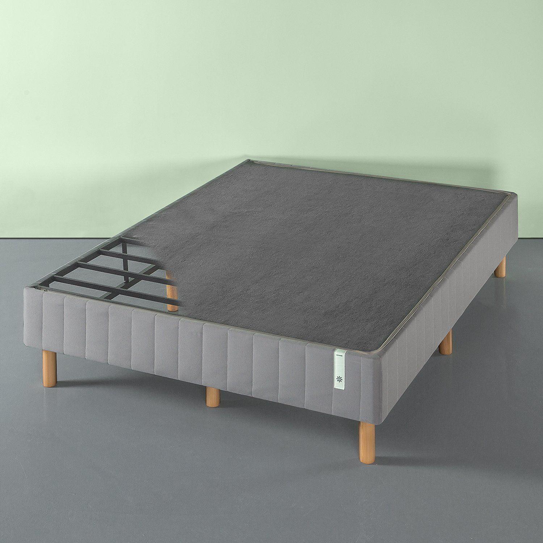 Amazon Com Zinus Quick Snap Standing Mattress Foundation Platform Bed No Box Spring Needed Grey Queen Hom Mattress Foundations Zinus Queen Size Platform Bed