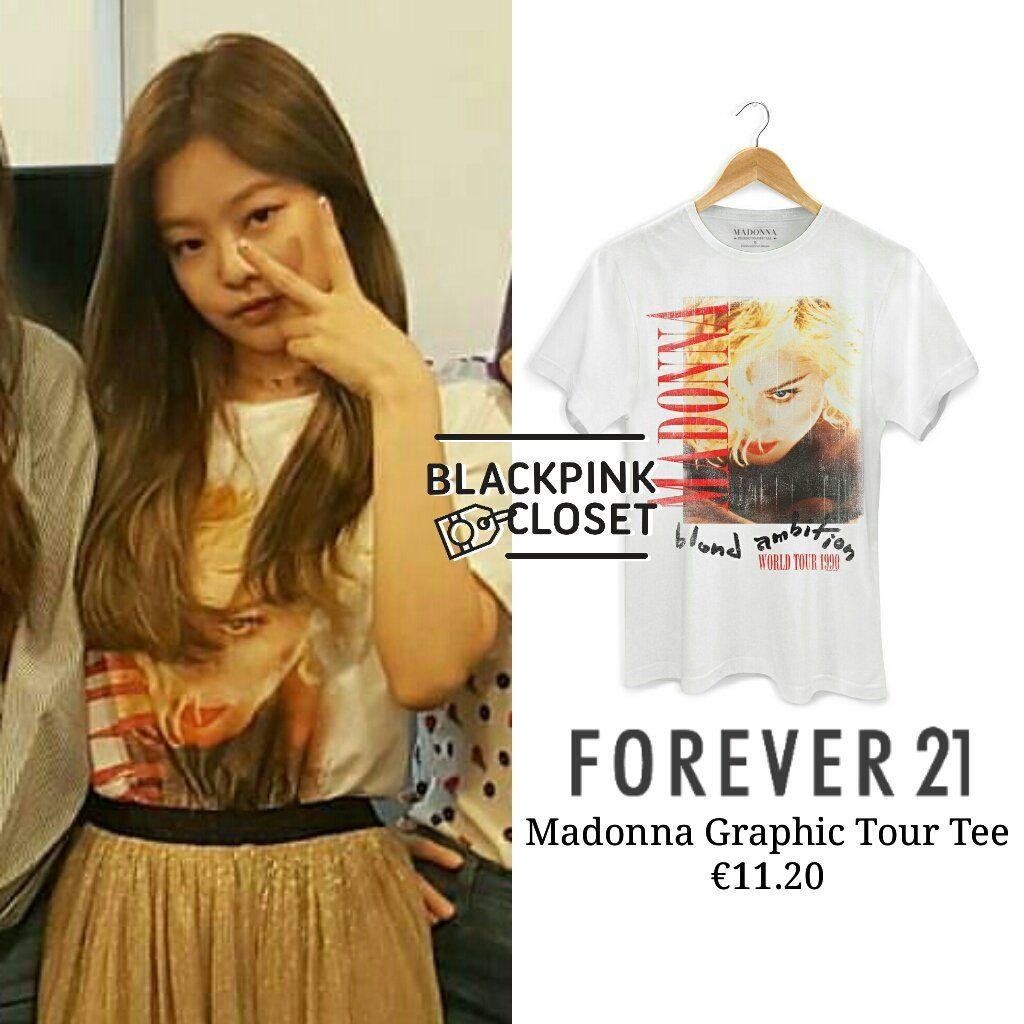 75efd2daa #BLACKPINK - Jennie Airport Fashion List: Forever21 (Madonna Graphic Tour  Tee) €