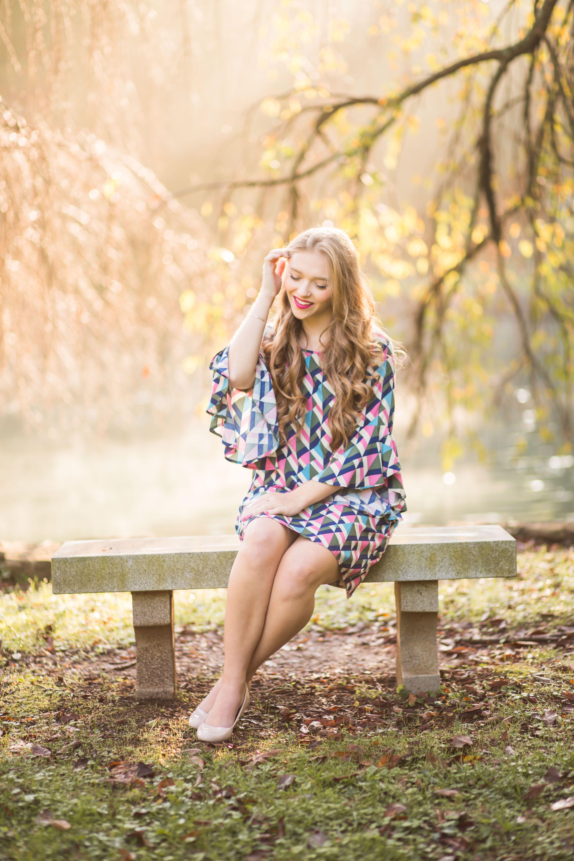 Modern maze becca flared sleeve dress sleeved dress prep fashion