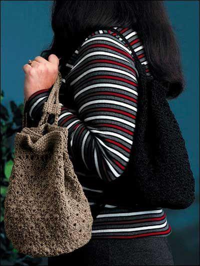 Drawstring Hobo Crochet Handbag Pattern
