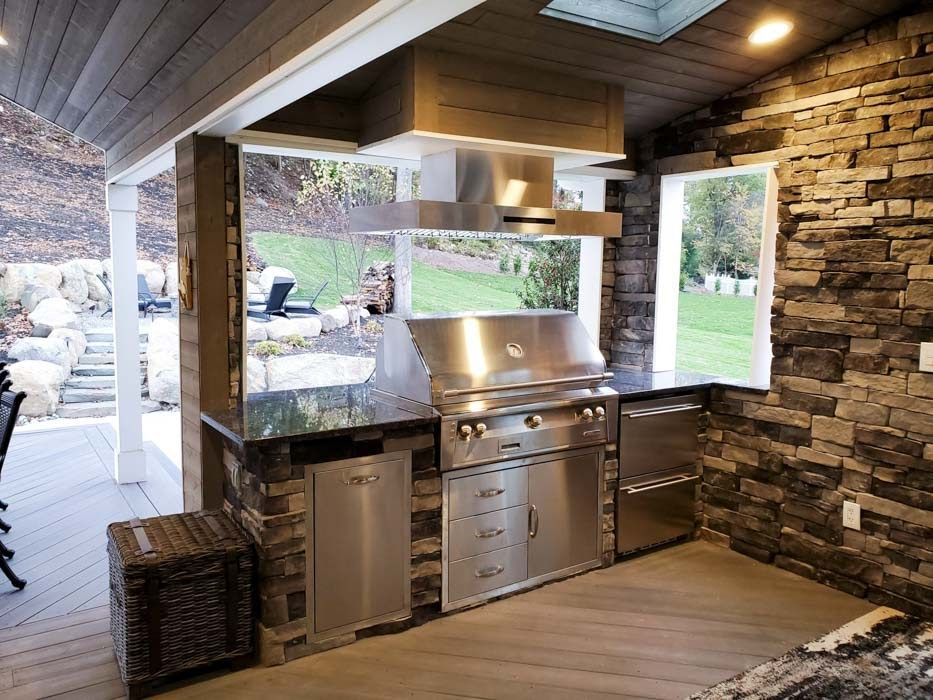 111 Inspirational Kitchen Hood Ideas In 2020 Small Outdoor Kitchen Design Outdoor Range Hood Small Outdoor Kitchens