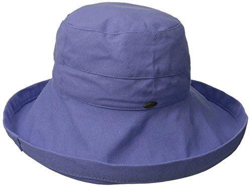 d2efa4a1832 Scala Women s Cotton Big Brim Ultraviolet Protection Hat…