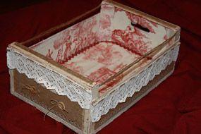 Aprende a usar las cajas de fruta manualidades hoy - Decorar cajas de madera con papel ...