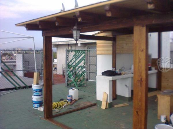 Kazafe tapancos terrazas techos entrepisos madera for Techos exteriores para casas