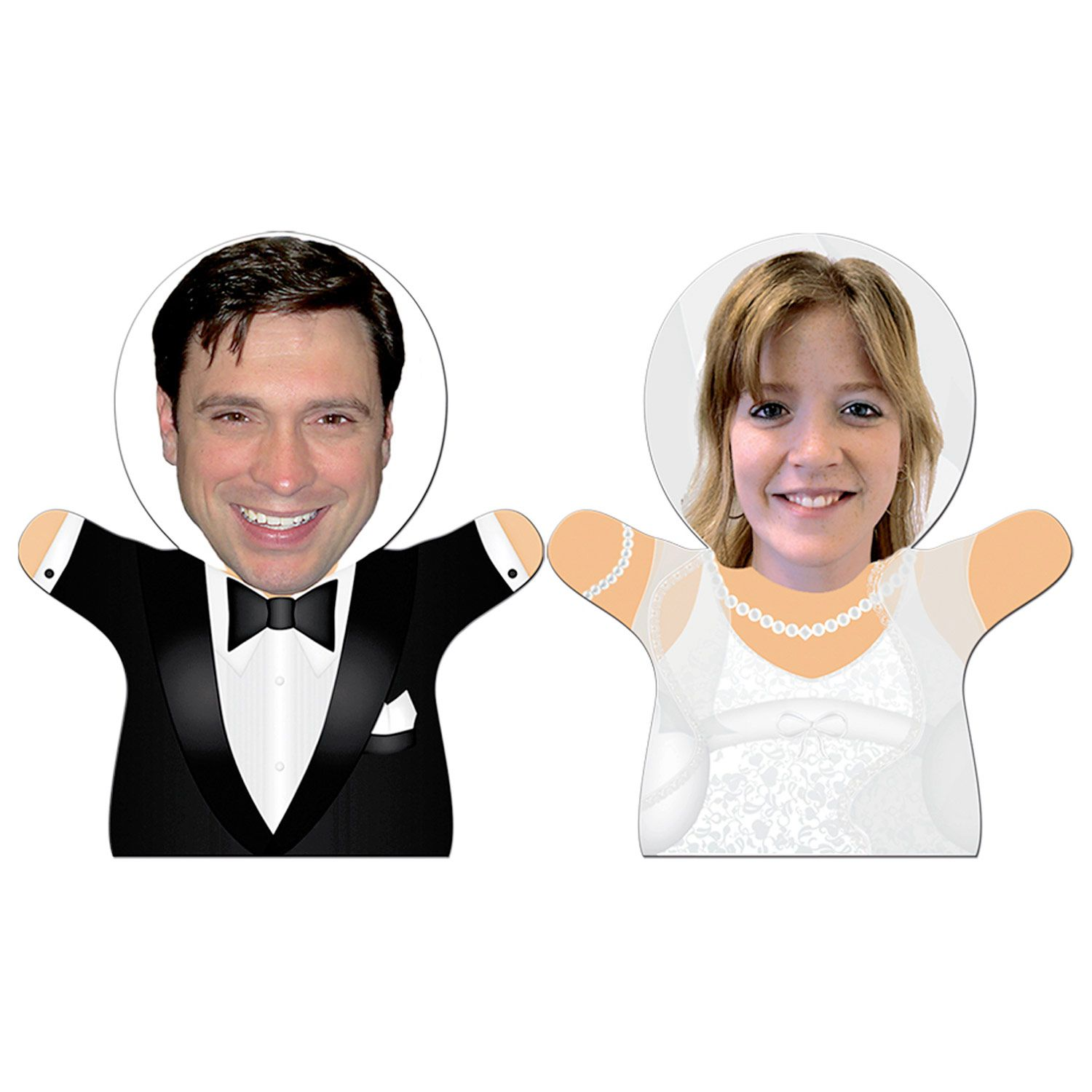Bride & Groom Couple Bobble Heads As low as $8.09 Paper hand puppets ...