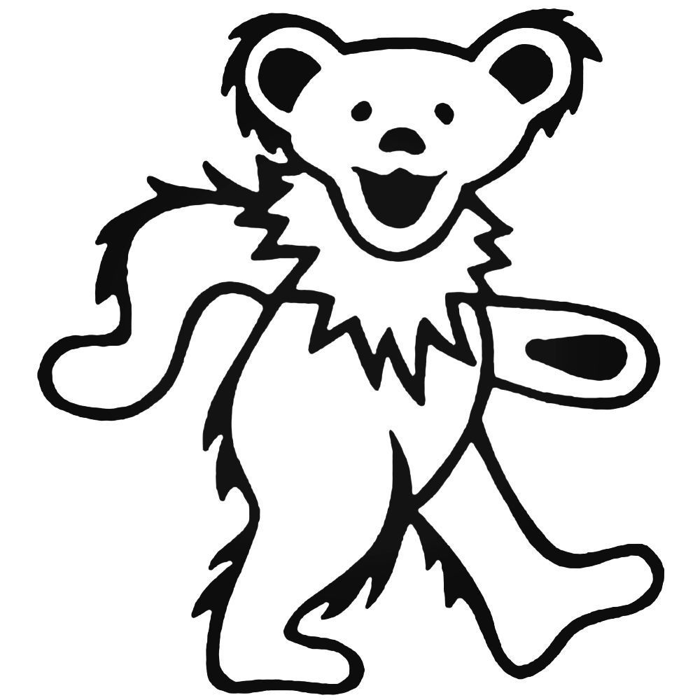 - The Grateful Dead Dancing Bear Band Decal Sticker (With Images