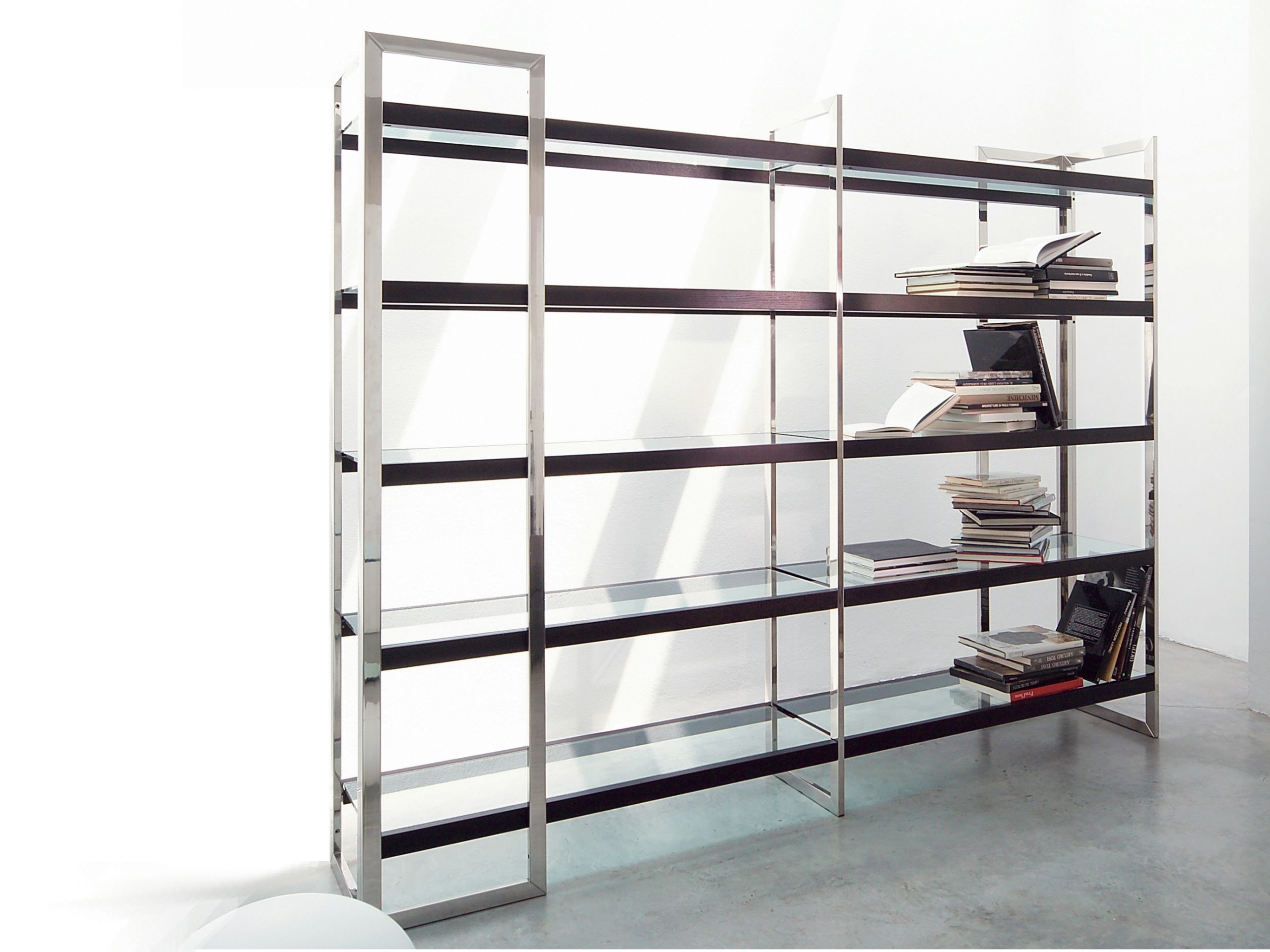 Stainless Steel Bookcase DIPSY By Gallottiu0026Radice
