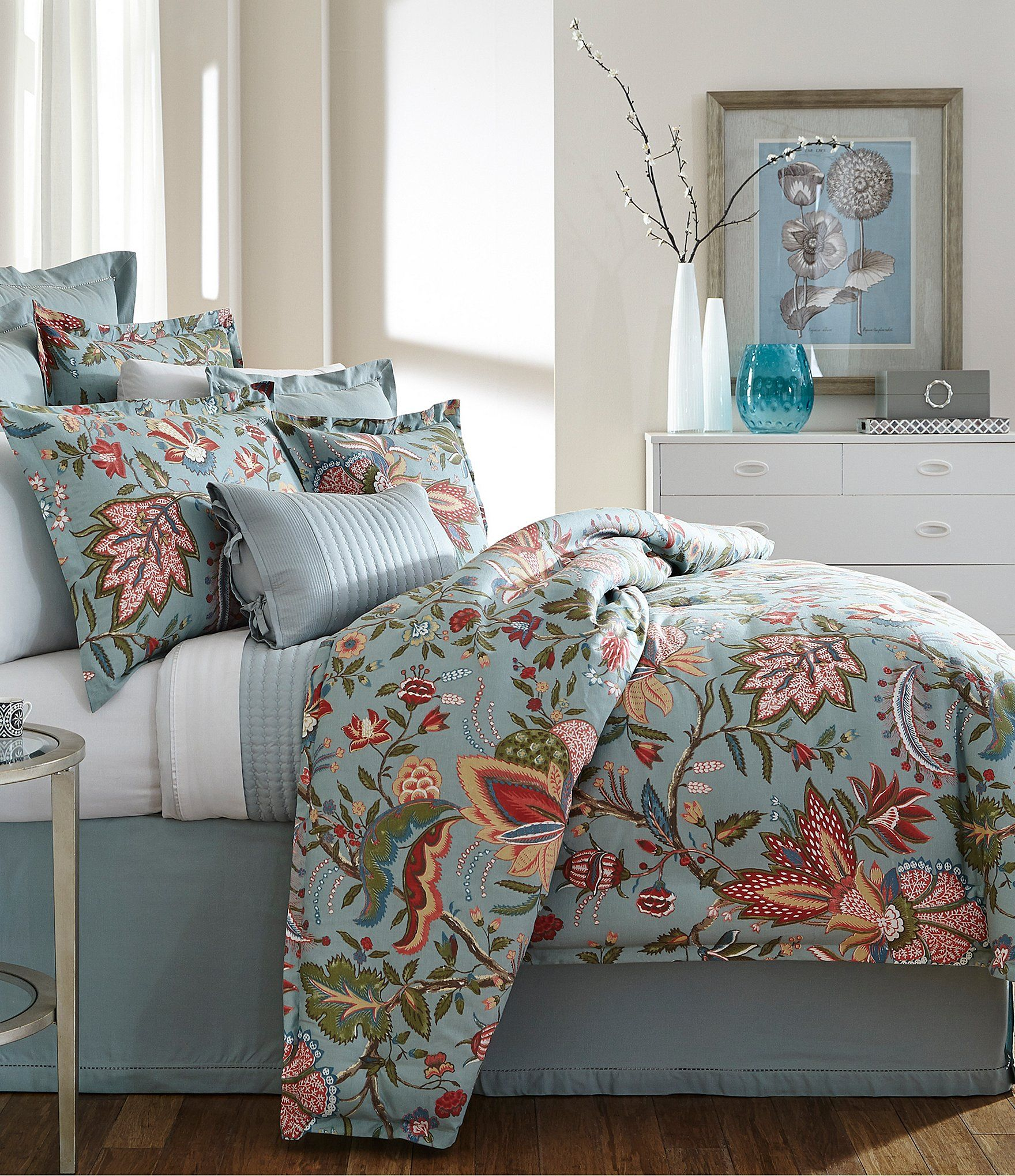 Villa By Noble Excellence Montrose Jacobean Cotton U0026 Linen Comforter Mini  Set | Dillards