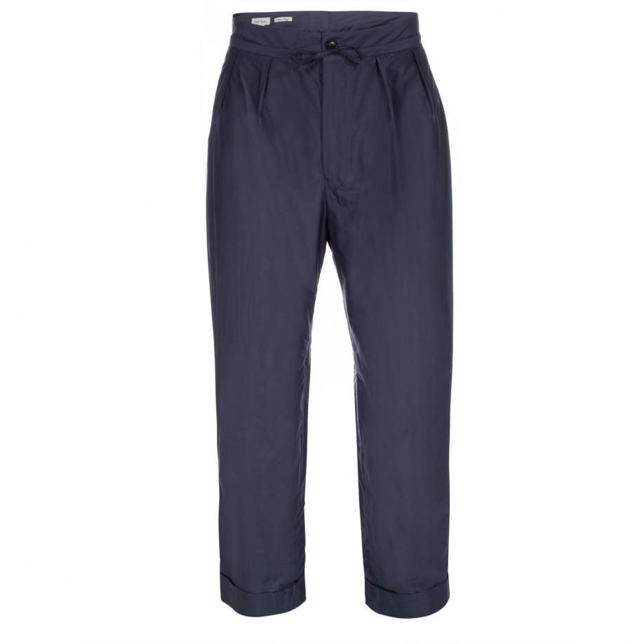 Paul Smith Men's Trousers | Slate Blue Cotton and Silk-Blend Trousers