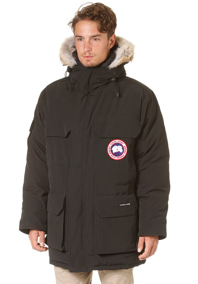veste canada goose logo noir