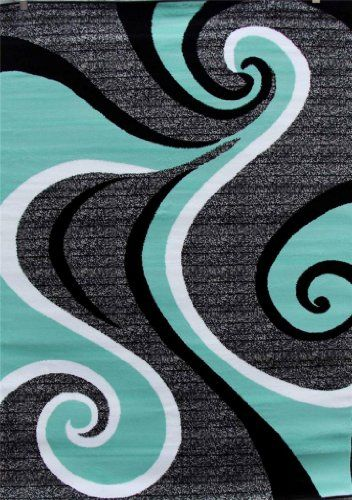 Black And Green Area Rugs 0327 sea green white gray black 5'2x7'2 area rug abstract carpet