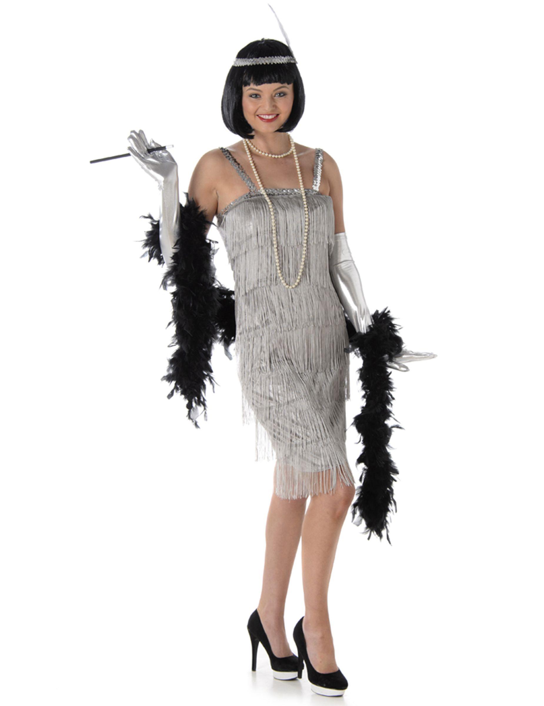 d332073874e2 Costume per donna anni '20 argentato: Costumi adulti,e vestiti di carnevale  online - Vegaoo