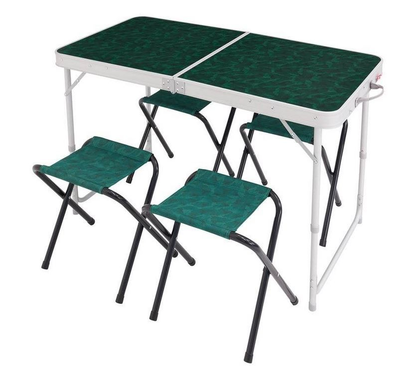 Quechua Camping Hiking Table For 4 Persons With 4 Seats Green 39 99 Folding Camping Table Camping Table Table