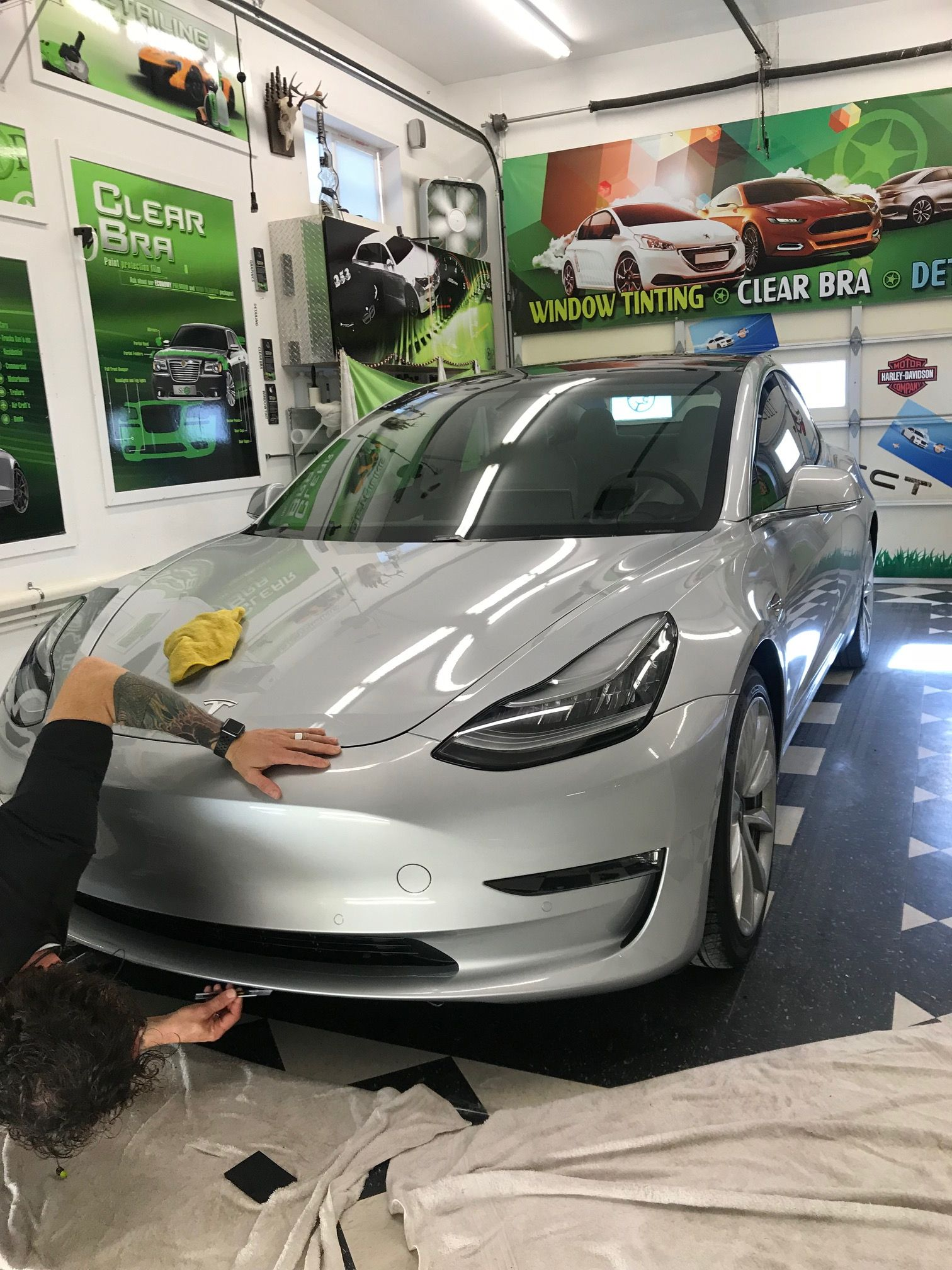 Brand new Tesla Model 3 right up in here! I had to show ...