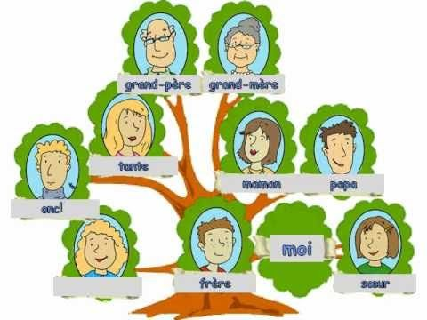 Learn French Vocabulaire La Famille Famille Pinterest