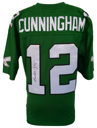 newest collection 017a3 2abfd Randall Cunningham Signed Philadelphia Eagles Green Replica ...