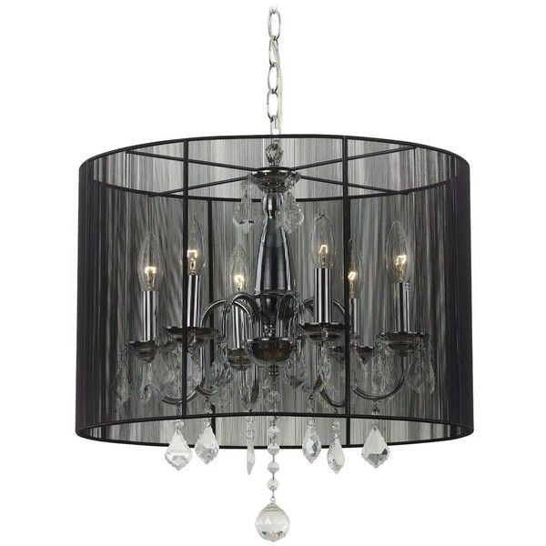 Crystal Chandelier Pendant Light With Black Drum Shade Chandelier Pendant Lights Drum Shade Chandelier Drum Shade