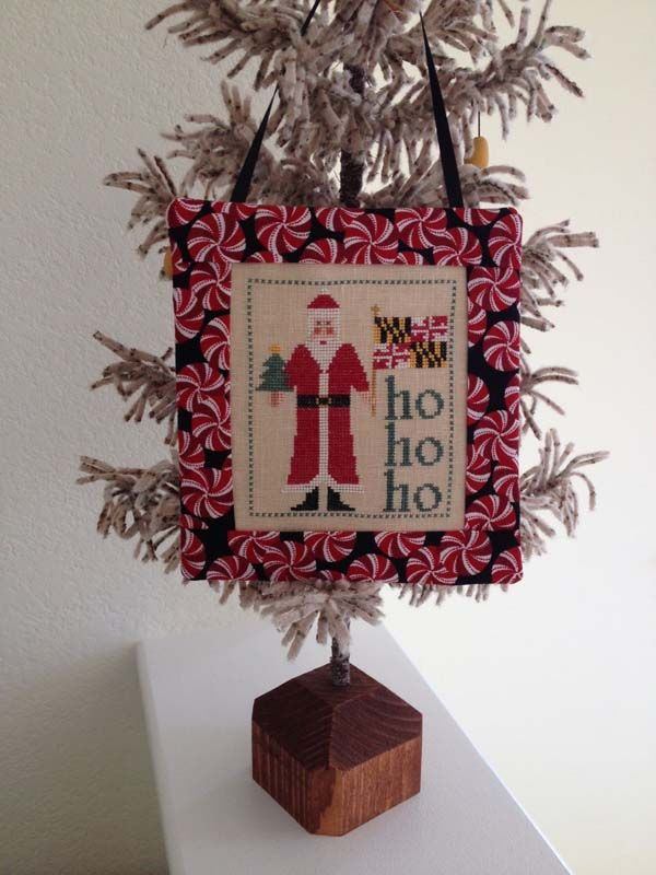 Santa Visits Maryland By Samplers Revisited, A Christmas Cross Stitch  Ornament. Finishing Instructions On