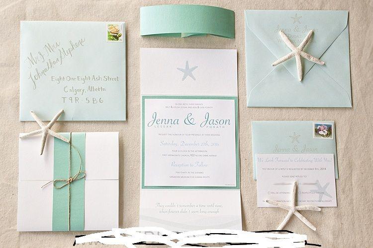 Beach Theme Wedding Invitations Diy Party Invitation Ideas