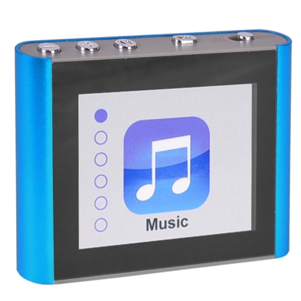 8GB USB 2.0 Portable USB MP3 Music Player Digital LCD Screen Blue