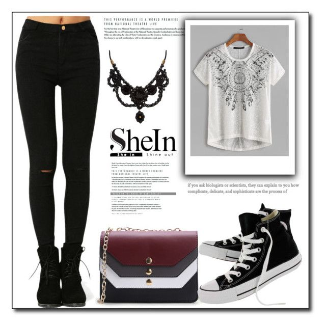 """""""Shein XIX-2"""" by azra-90 ❤ liked on Polyvore featuring WithChic, Gucci and Converse"""