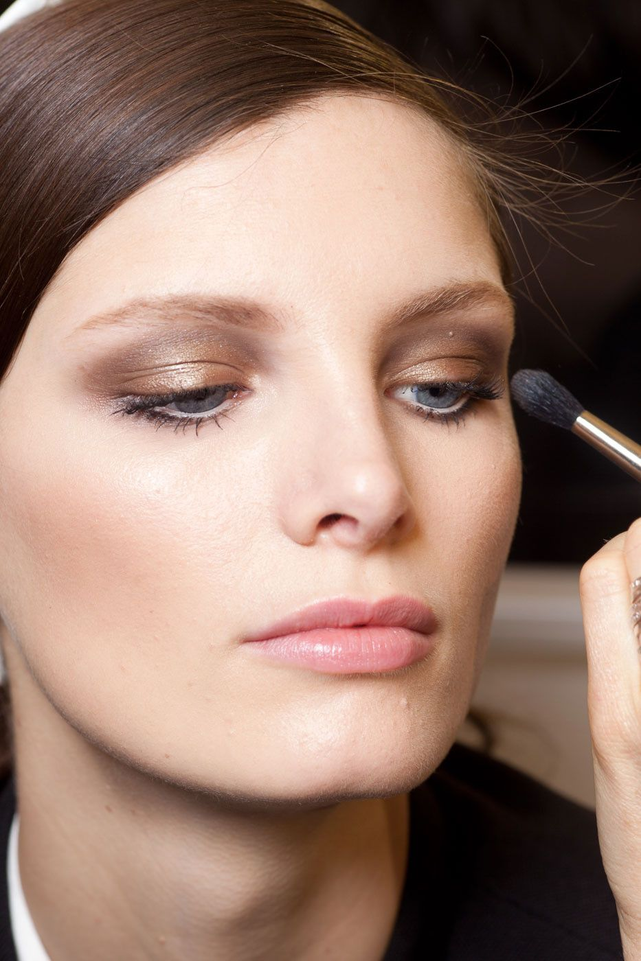 Smoky taupe eye | fall/winter look.
