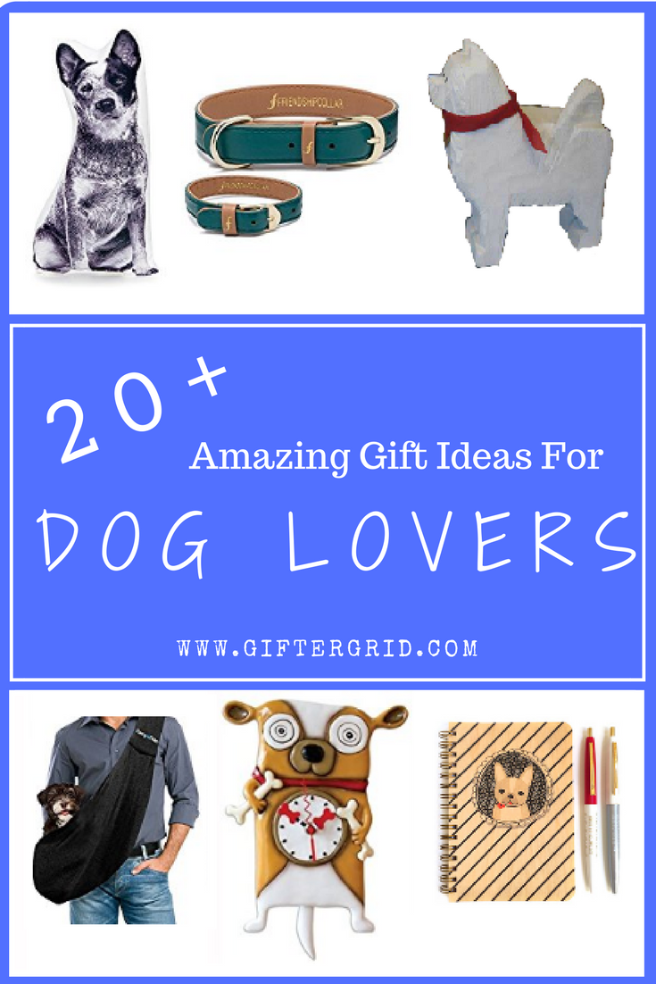 Unique and amazingly memorable dog-themed gift ideas for the dog lover in your life and their four-legged companion! Gift ideas include DIY projects, cool gift ideas, gifts of experiences and charitable causes! Have fun browsing and check out more gift ideas on Gifter Grid.com!
