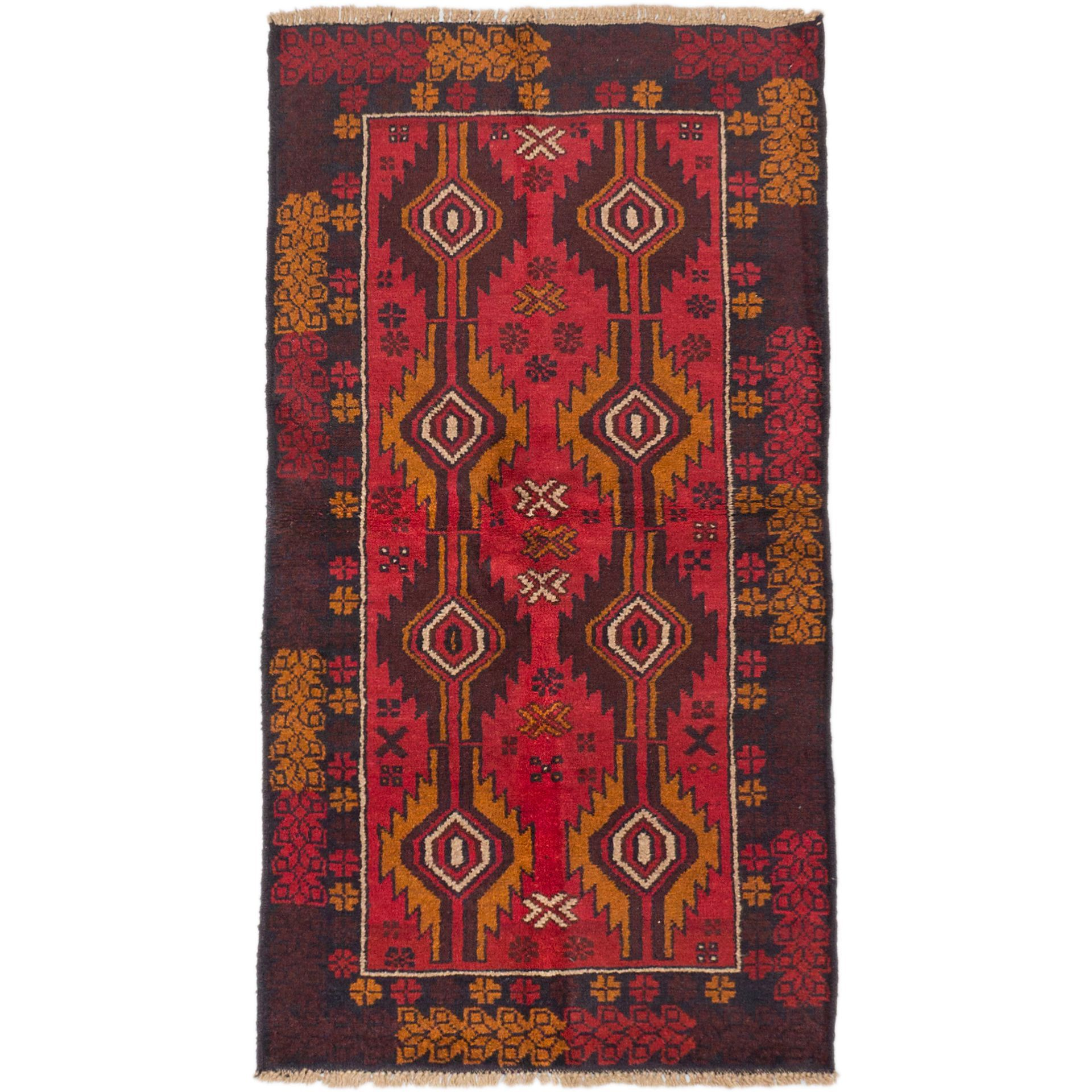 eCarpetGallery Bahor Red Hand-knotted Rug