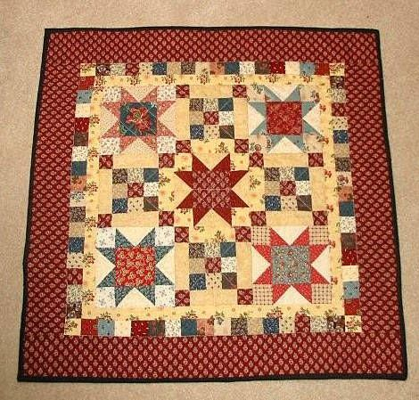 Scrappy Stars & Patches - Doll Quilt