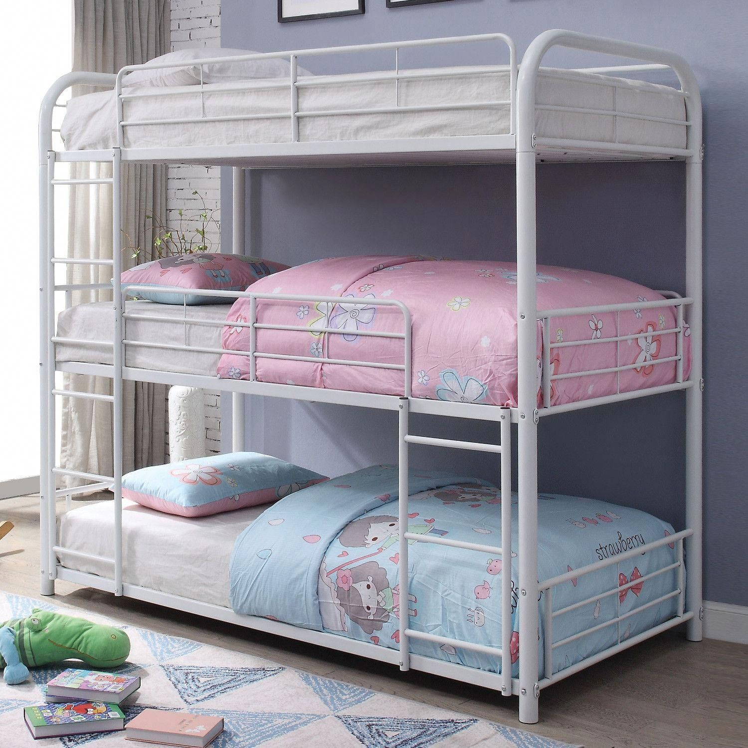 Acme Furniture 38110 Cairo Twin Triple Bunk Bed White