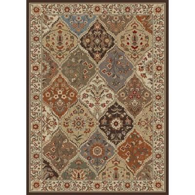Tayse Rugs Elegance Multi 7 Ft 6 In X 9 10 Traditional Light Area Rug