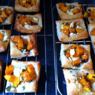 My pumpkin & feta tarts! So easy to make
