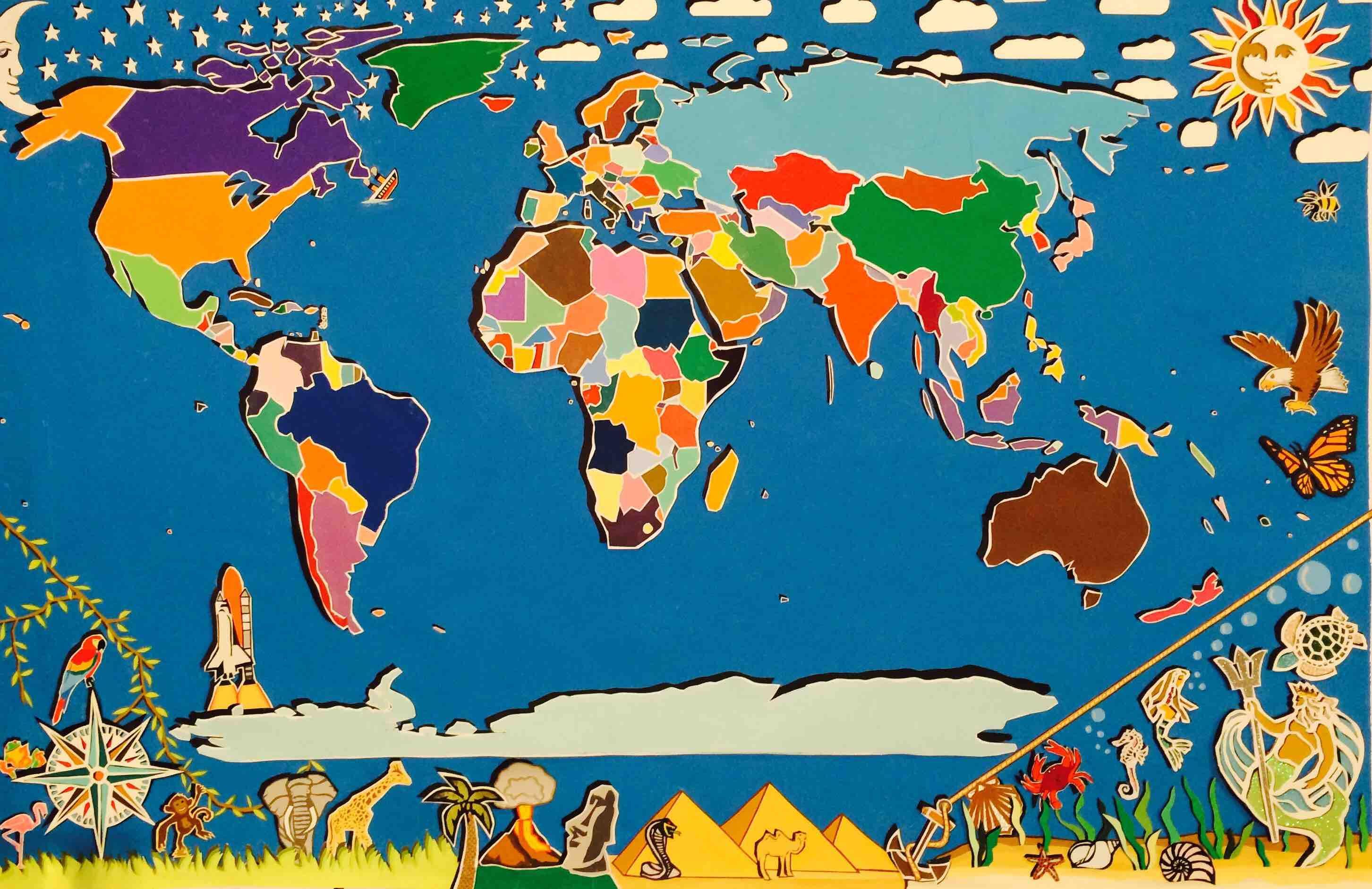 Красивая, картинки прикольные карта мира