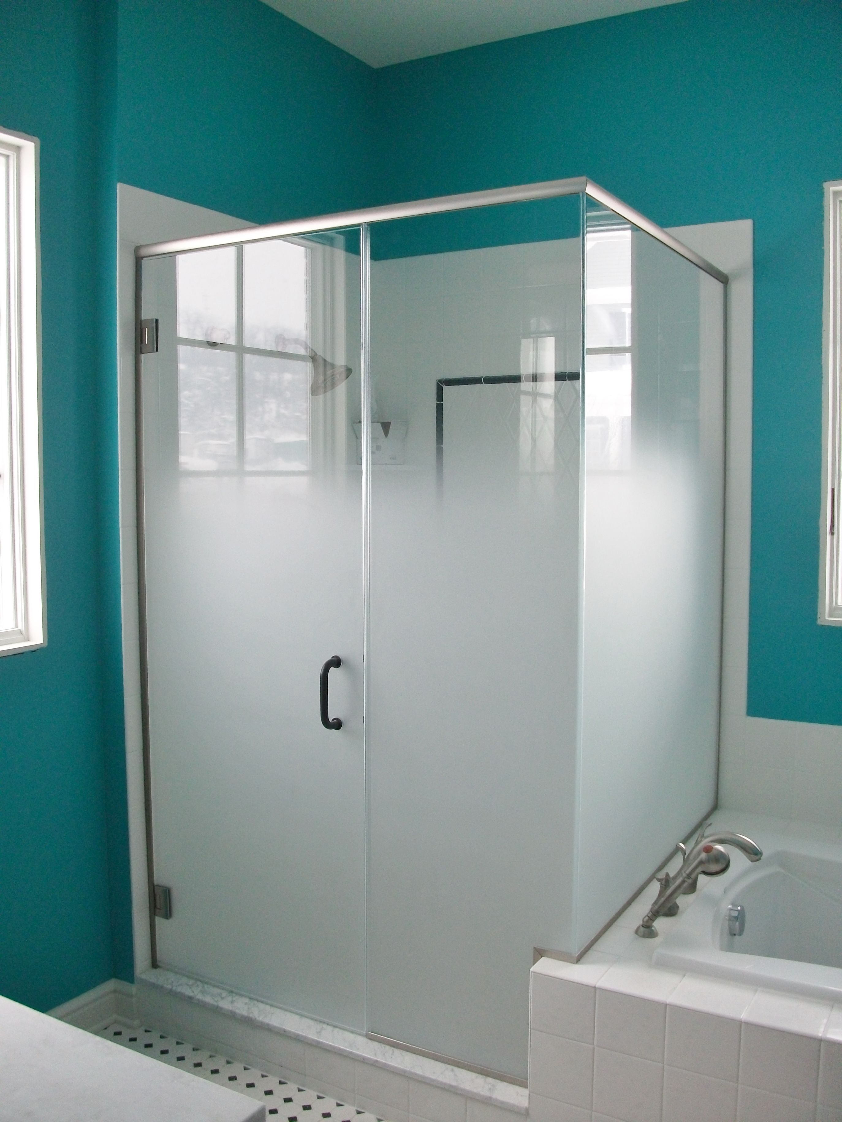 Frameless Shower Enclosure Door Panel Return Panel With
