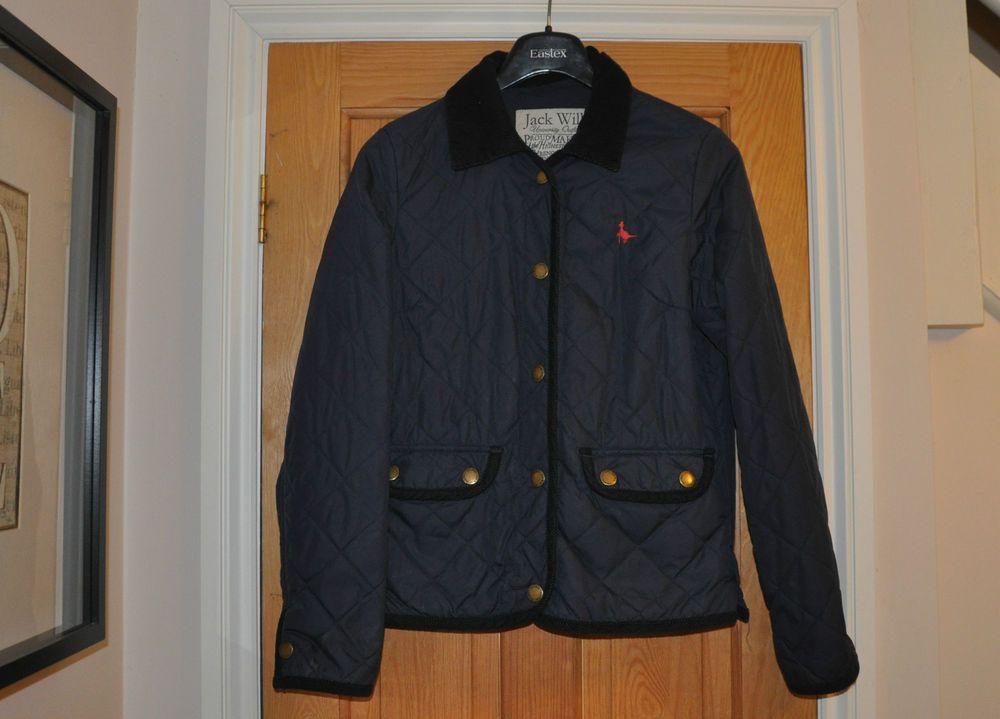 Jack Wills Navy Blue Ladies Quilted Jacket Size 8   Quilted jacket ... : barbour quilted jacket ebay - Adamdwight.com
