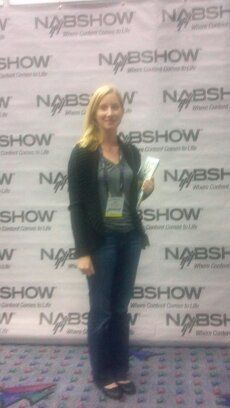 Anna Pollack in Press Room at NAB Show 2012