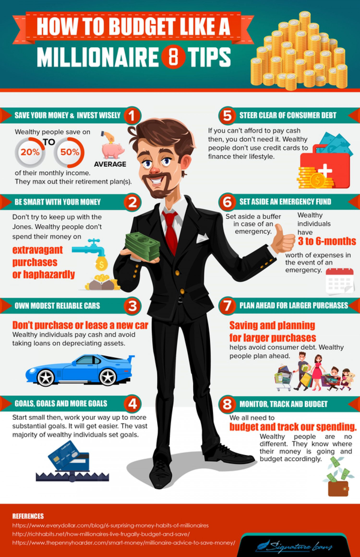 How To Budget Like A Millionaire 8 Tips