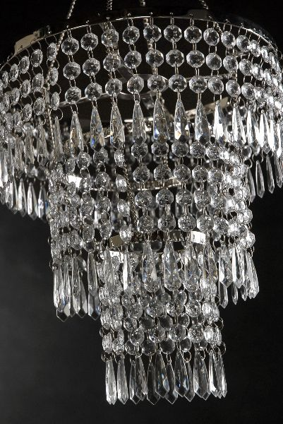 Crystal pendant chandelier 3 tier 12in w lighting kit crystal chandelier pendent light 12 three tier always wanted a chandy in my closet aloadofball Images