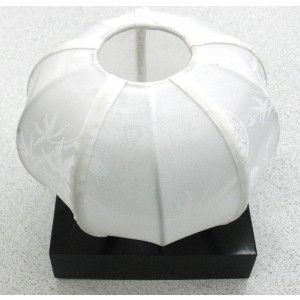 Silk Candle Holder - White - Clearance