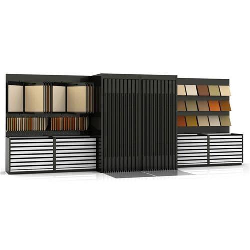 modular flooring tile display rack