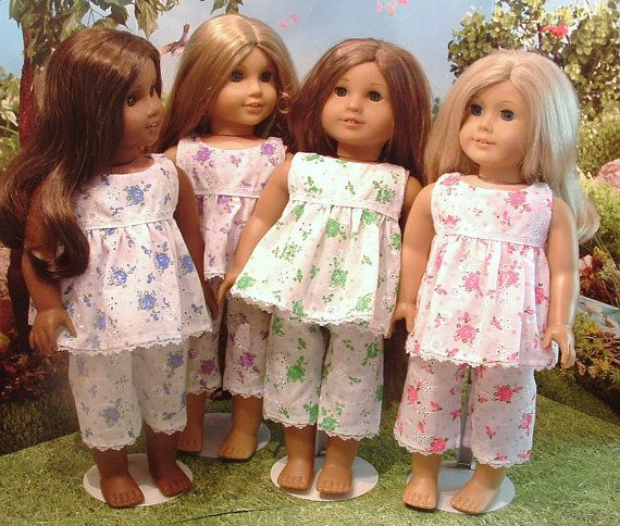 Summer Pajamas 4 Color Choices for American Girl #americangirlhouse