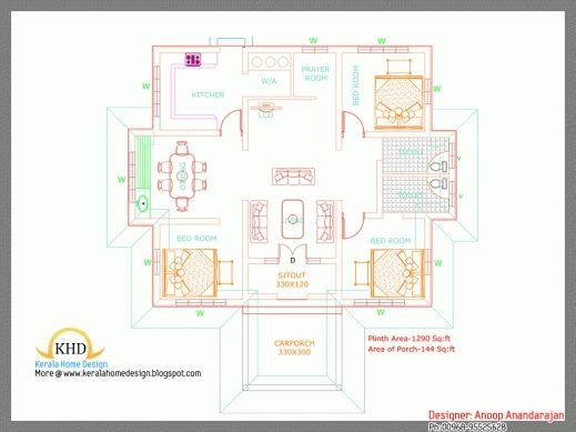 Image Result For House Plans Kerala House Floor Design Three Bedroom House Plan House Plans Small house plan kerala 750 sq