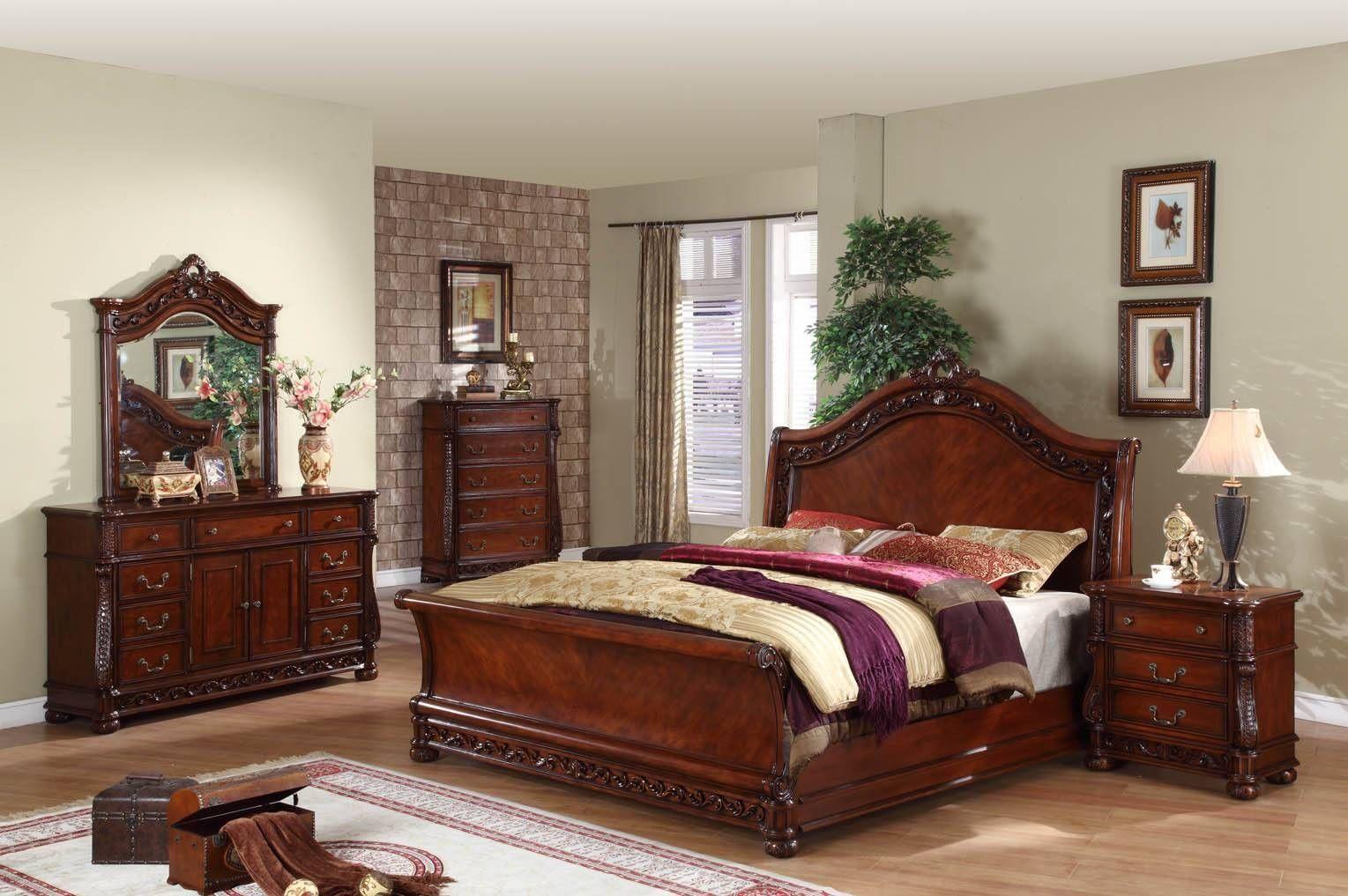 Antique Mahogany Bedroom Furniture Set Log Wood Cabin Dream